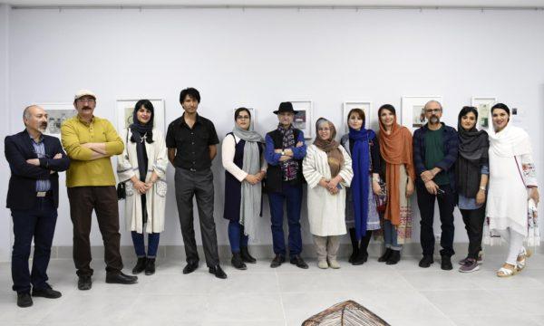 حضور گرم دکتر اسماعیل کهرم در افتتاحیه نمایشگاه گروهی نقاشی و حجم در گالری دیدار عکس از مانا حجازی