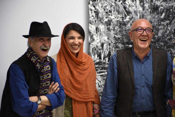 حضور گرم دکتر اسماعیل کهرم در افتتاحیه نمایشگاه گروهی نقاشی و حجم در گالری دیدار  - عکس از مانا حجازی