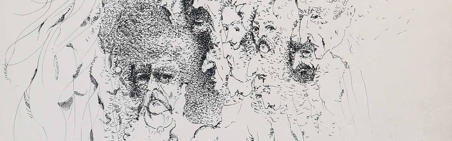 نمایشگاه آثار قلمی نقاشی طراحی راون نویس حشمت اله بهزادی در گالری دیدار the quill artwork exhibition heshmat ollah behzadi painting pen draw the riot of memories آشوب یادها
