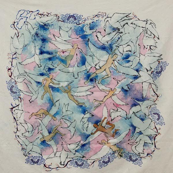 نمایشگاه نقاشی فرشته ها حسین تحویلیان گالری دیدار painting exhibition angels didar gallery isfahan اصفهان هنر art